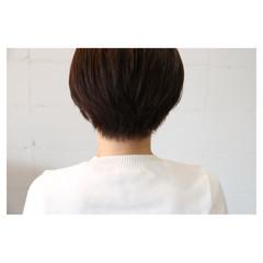 小顔 ナチュラル イルミナカラー ショート ヘアスタイルや髪型の写真・画像