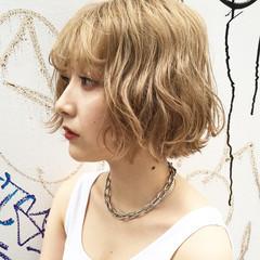 ストリート 外国人風カラー カジュアル ヘアカラー ヘアスタイルや髪型の写真・画像