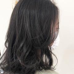 透明感カラー ナチュラル オリーブベージュ ハイライト ヘアスタイルや髪型の写真・画像