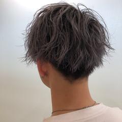 メンズパーマ ショート メンズカット ストリート ヘアスタイルや髪型の写真・画像