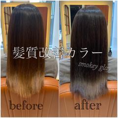 髪質改善カラー ナチュラル 髪質改善 大人かわいい ヘアスタイルや髪型の写真・画像