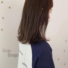 大人かわいい セミロング 大人女子 ナチュラル ヘアスタイルや髪型の写真・画像