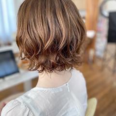 ボブ パーマ ゆるふわパーマ デジタルパーマ ヘアスタイルや髪型の写真・画像