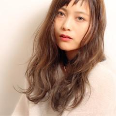 ロング フェミニン 大人かわいい ミルクティー ヘアスタイルや髪型の写真・画像