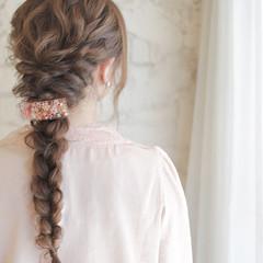 ハーフアップ パーティ ヘアアレンジ 夏 ヘアスタイルや髪型の写真・画像