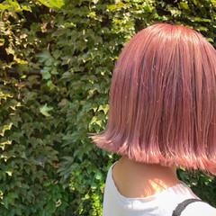 ラズベリーピンク ラベンダーピンク ピンクパープル 切りっぱなし ヘアスタイルや髪型の写真・画像