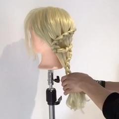 外国人風 エレガント 編み込み 上品 ヘアスタイルや髪型の写真・画像