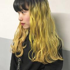 韓国ヘア ロング ヘアアレンジ 外国人風カラー ヘアスタイルや髪型の写真・画像