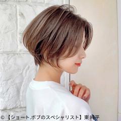 ショートボブ ショートヘア ショート マッシュショート ヘアスタイルや髪型の写真・画像