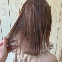 ミディアム ガーリー ラベンダーカラー 透明感カラー ヘアスタイルや髪型の写真・画像
