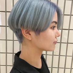ブリーチカラー ショートヘア モード 大人ショート ヘアスタイルや髪型の写真・画像