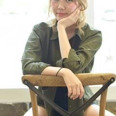簡単ヘアアレンジ ガーリー ショート 渋谷系 ヘアスタイルや髪型の写真・画像