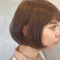 ラベンダーピンク ボブ ワンカール ショートボブ ヘアスタイルや髪型の写真・画像