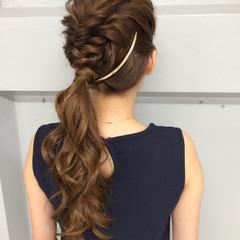ブラウン ハーフアップ 簡単ヘアアレンジ ショート ヘアスタイルや髪型の写真・画像