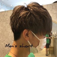 メンズマッシュ ナチュラル メンズショート メンズカット ヘアスタイルや髪型の写真・画像