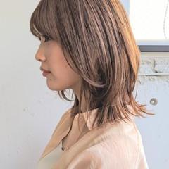 大人カジュアル ナチュラル可愛い ミディアム ストリート ヘアスタイルや髪型の写真・画像