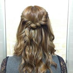 ナチュラル 結婚式 ブライダル ヘアアレンジ ヘアスタイルや髪型の写真・画像
