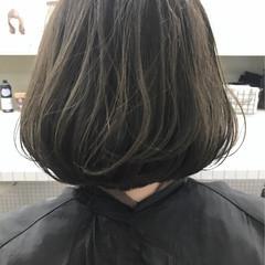ワンレングス ボブ ハイライト ワンカール ヘアスタイルや髪型の写真・画像