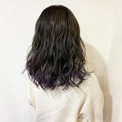 ウェットヘア ガーリー 外国人風カラー ミディアム ヘアスタイルや髪型の写真・画像
