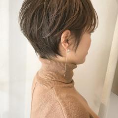 ショート ナチュラル 大人かわいい かっこいい ヘアスタイルや髪型の写真・画像