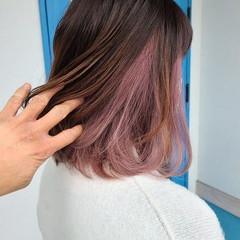 抜け感 透明感カラー 圧倒的透明感 セミロング ヘアスタイルや髪型の写真・画像