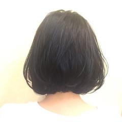 ボブ ゆるふわ ハイライト 暗髪 ヘアスタイルや髪型の写真・画像