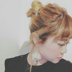 グラデーションカラー 外国人風 ショート ヘアアレンジ ヘアスタイルや髪型の写真・画像