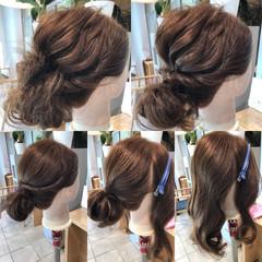 ヘアアレンジ ロープ編み くるりんぱ 簡単ヘアアレンジ ヘアスタイルや髪型の写真・画像