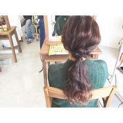 ロング ストレート ヘアアレンジ 大人かわいい ヘアスタイルや髪型の写真・画像