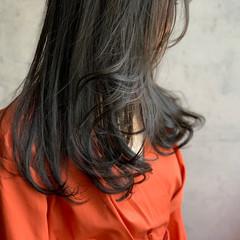 ブルージュ ロング ネイビーブルー モード ヘアスタイルや髪型の写真・画像