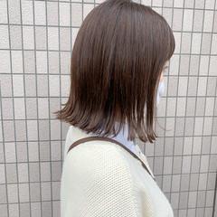 レイヤーボブ 切りっぱなしボブ 外ハネ ボブ ヘアスタイルや髪型の写真・画像