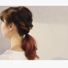外国人風 簡単ヘアアレンジ ミディアム ストリート ヘアスタイルや髪型の写真・画像