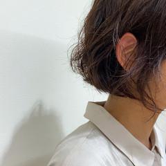 ゆるふわパーマ ショートヘア ショート モテ髪 ヘアスタイルや髪型の写真・画像