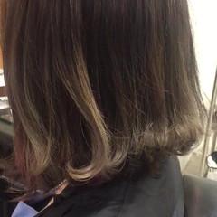 グラデーションカラー ストリート ボブ ブルージュ ヘアスタイルや髪型の写真・画像