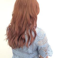 フェミニン ロング ガーリー 外国人風 ヘアスタイルや髪型の写真・画像
