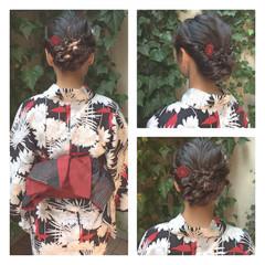 夏 ヘアアレンジ 花火大会 ショート ヘアスタイルや髪型の写真・画像