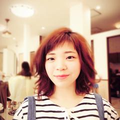 フェミニン ガーリー パーマ ピュア ヘアスタイルや髪型の写真・画像