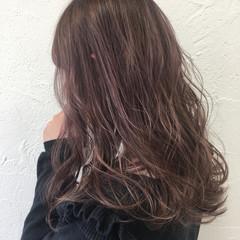 セミロング ピンク ガーリー 渋谷系 ヘアスタイルや髪型の写真・画像