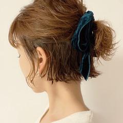 ボブアレンジ 簡単ヘアアレンジ ボブ 切りっぱなしボブ ヘアスタイルや髪型の写真・画像