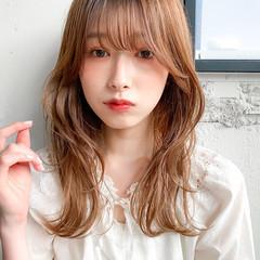 ミディアム ベージュカラー デジタルパーマ パーマ ヘアスタイルや髪型の写真・画像