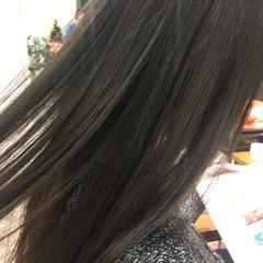 アッシュ 黒髪 ナチュラル 暗髪 ヘアスタイルや髪型の写真・画像