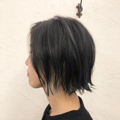 ナチュラル ボブ インナーカラー ミニボブ ヘアスタイルや髪型の写真・画像