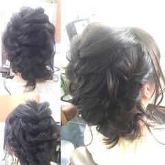 ミディアム ボブ 編み込み ヘアアレンジ ヘアスタイルや髪型の写真・画像