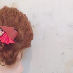ショート ロング ゆるふわ ヘアアレンジ ヘアスタイルや髪型の写真・画像