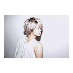 ホワイトアッシュ グレージュ 透明感 ショート ヘアスタイルや髪型の写真・画像