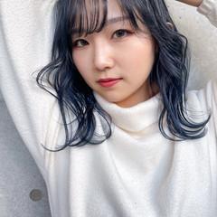 オルチャン ナチュラル シースルーバング 韓国 ヘアスタイルや髪型の写真・画像
