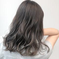 ヘアカラー ダークカラー ダブルカラー ブリーチカラー ヘアスタイルや髪型の写真・画像