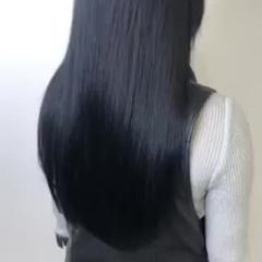 ロング 暗髪 髪質改善 ナチュラル ヘアスタイルや髪型の写真・画像