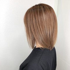 ストレート 髪質改善トリートメント ナチュラル ボブ ヘアスタイルや髪型の写真・画像