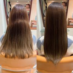 ナチュラル ロング トリートメント 美髪 ヘアスタイルや髪型の写真・画像